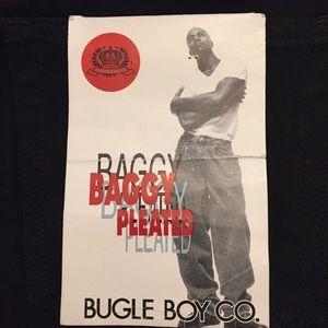 Bugle Boy Co. Baggy Pleated